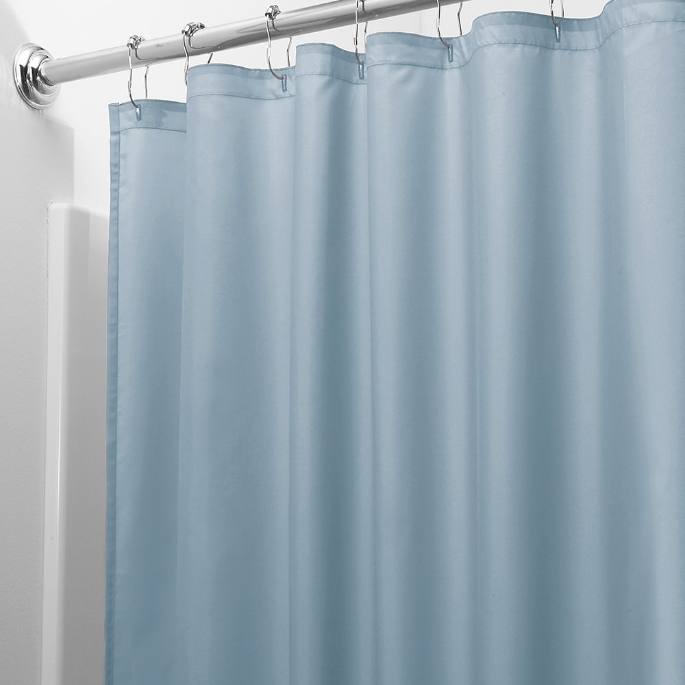 Magnetic shower curtain weights hold down your curtain and increase your space!