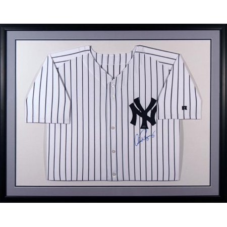 Alex Rodriguez New York Yankees Framed Autographed White Pinstripe Jersey - Fanatics Authentic Certified Authentic Alex Rodriguez Home Jersey