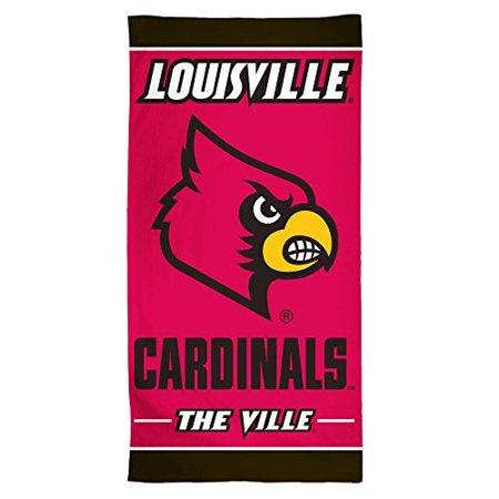 Color Beach (NCAA Louisville Cardinals Fiber Beach Towel, 30 x 60