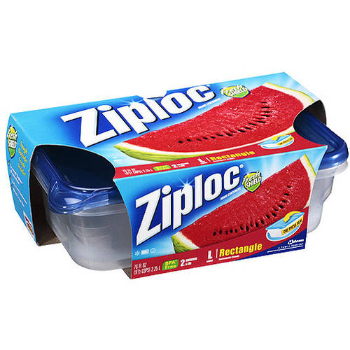 Ziploc Fresh Shield Rectangle Containers & Lids, 2ct