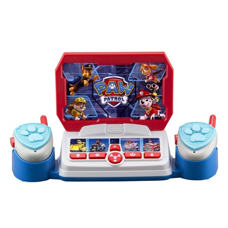 Paw Patrol Command Center with Kid Friendly Walkie Talkies and Speech & Sound Effects - Halloween Sound Effects Radio