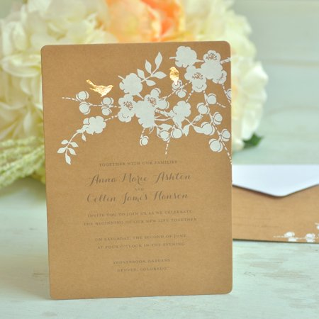 Gartner Studios Bird Invitations, 50 Piece
