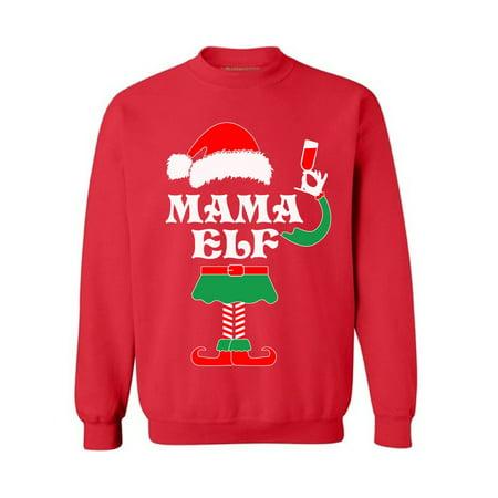 christmas sweatshirt funny elf christmas sweater party elf ugly christmas sweater mama elf christmas holiday sweatshirt xmas gifts for mom walmartcom
