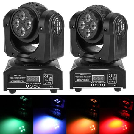 Head Moving Stage Light,90W Double Sides RGBW LED Stage Light 15/21CH DMX512 Controlled Disco Party Effect Light US Plug 110V (Lighted Moving Picture)