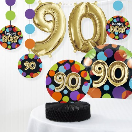 The Party Aisle Balloon 90th Birthday Decorations Kit (Set of 7)](90th Birthday Balloons)