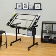 Studio Designs Vision 2 Piece Craft Center with Glass Top