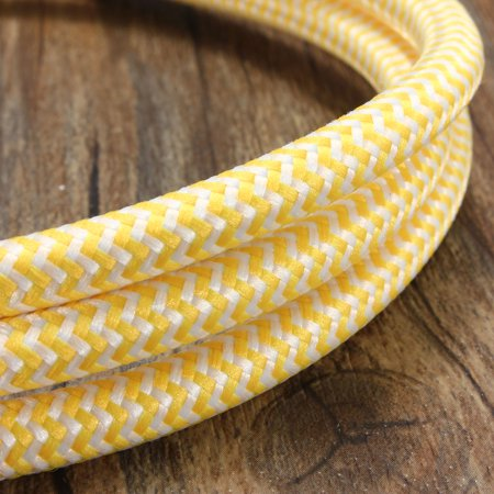 - 1M 3 Core Vintage Colorful Twist Braided Fabric Cable Wire Electric Light Lamp
