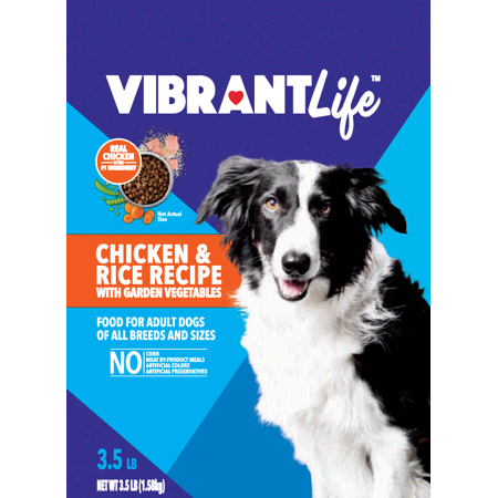 Vibrant Life Adult Dry Dog Food, Chicken & Rice with Garden Vegetables Recipe, 3.5lbs](Chicken Life)