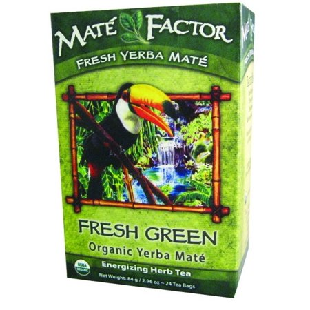 Mate Factor Fresh Green Organic Yerba Mate, 24 Ct
