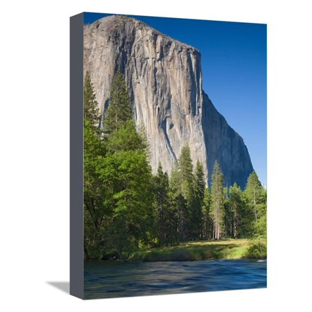 El Capitan and Merced River. Yosemite National Park, CA Stretched Canvas Print Wall Art By Jamie & Judy Wild