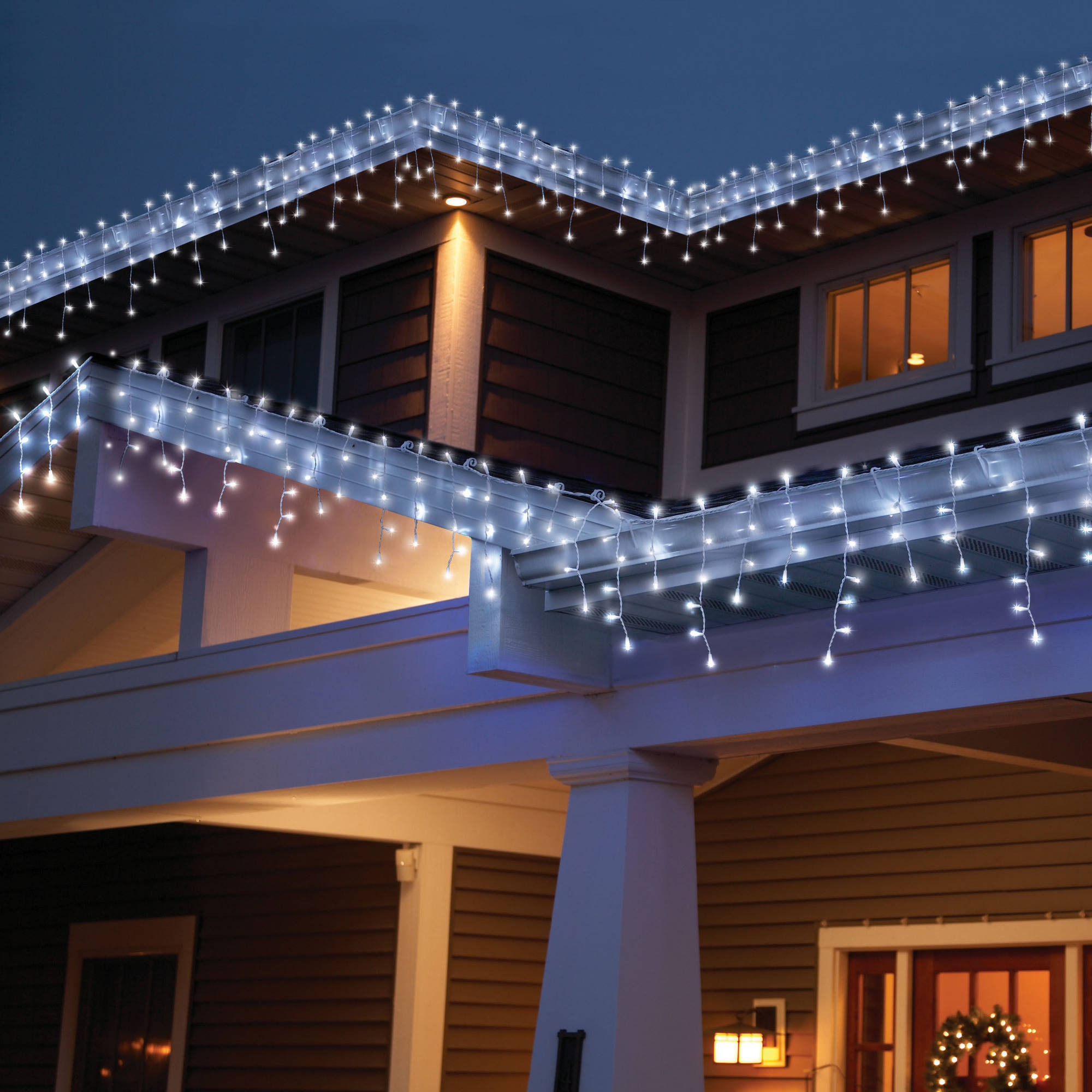Holiday Time High Density LED Dome Christmas Lights Cool White ...