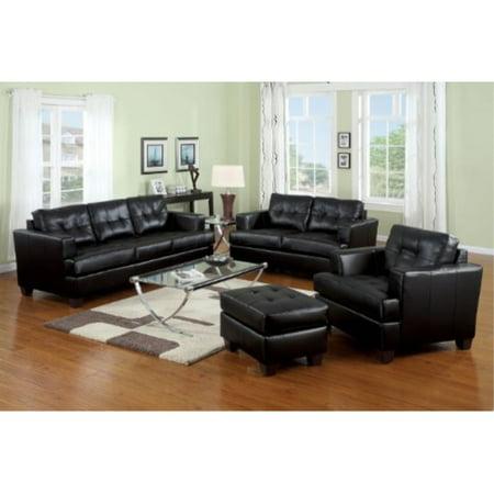 Pleasing Acme 15090B Diamond Bonded Leather Sofa With Wood Leg Black Cjindustries Chair Design For Home Cjindustriesco