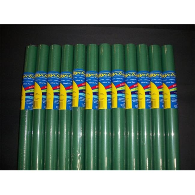 RiteCo Raydiant 80115 Riteco Raydiant Fade Resistant Art Rolls Holly Green 18 In. X 50 Ft. 12 Pack