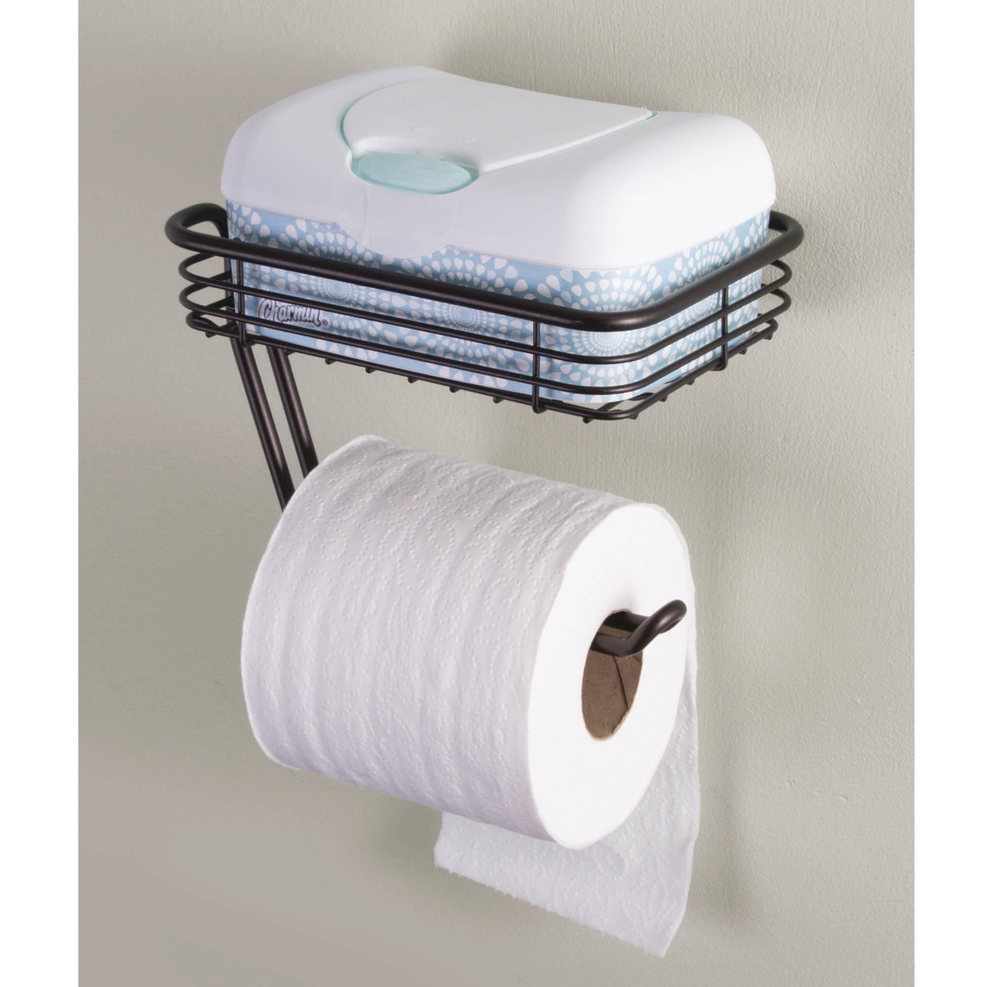 interdesign classico toilet paper holder with shelf for bathroom rh ebay co uk bathroom toothbrush holder wall mounted bathroom toothbrush holder wall mounted