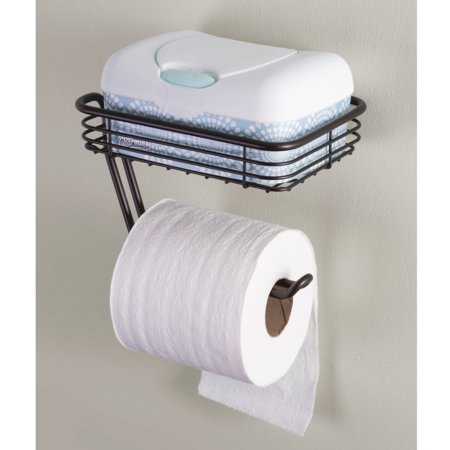 Interdesign Classico Toilet Paper Holder With Shelf For
