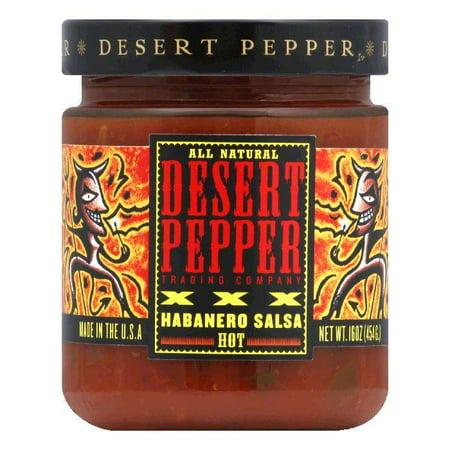 Desert Pepper Roasted Habanera Salsa - XXXtra Hot, 16 OZ (Pack of 6)