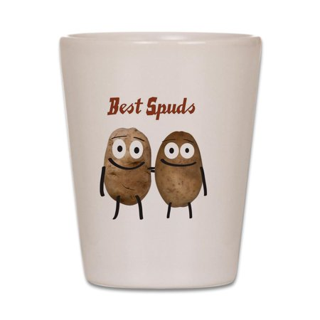 CafePress - Best Spuds - White Shot Glass, Unique and Funny Shot
