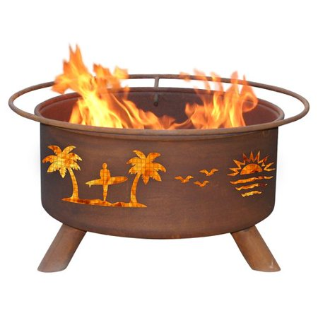 (Patina Products Classic Pacific Coast Steel Wood Burning Fire pit)