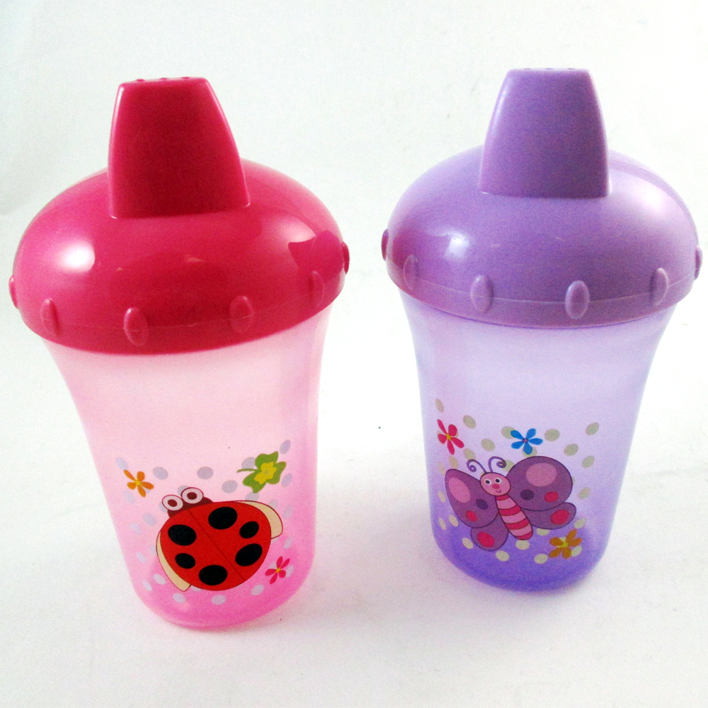 2 Pc Sippy Drinking Cups No Spill Design BPA Free 8oz 12m+ Baby Infant Toddler !
