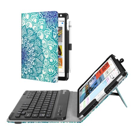Fintie iPad mini 4 2015 / mini 5th 2019 Case - Folio Stand Cover with Removable Bluetooth Keyboard, Emerald