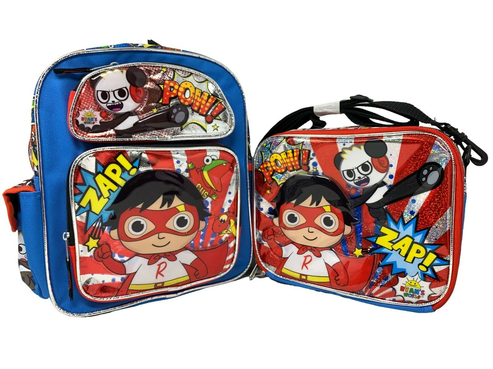 """Ryan/'s World 12/"""" Small School Backpack Book bag Plus Matching Lunch Bag"""