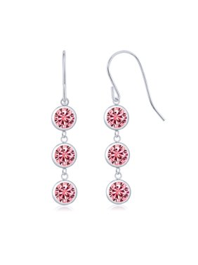 fdb40acce Product Image 925 Silver Earrings Pink Created Moissanite Created  Moissanite Pink 2.00ct DEW