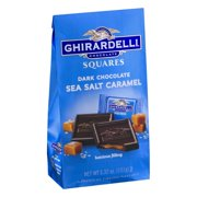 Ghirardelli Chocolate Squares Dark & Caramel Sea Salt 5.32oz (PACK OF 6)