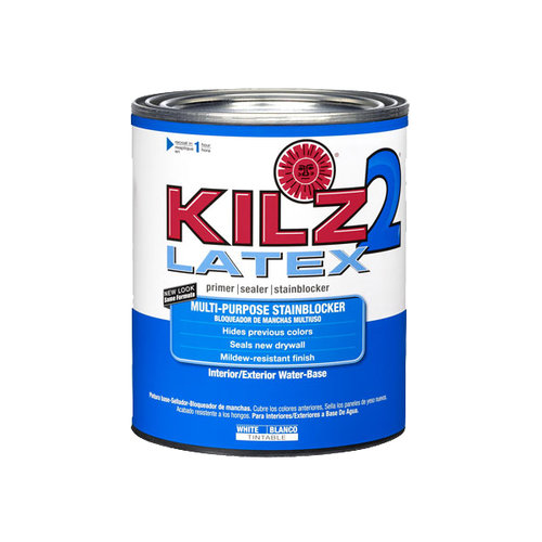 KILZ 2 Latex Low VOC Primer, 1 qt