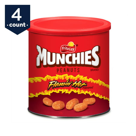 Munchies Peanuts, Flamin' Hot, 16 oz Canisters, 4 Count](Halloween Munchies)