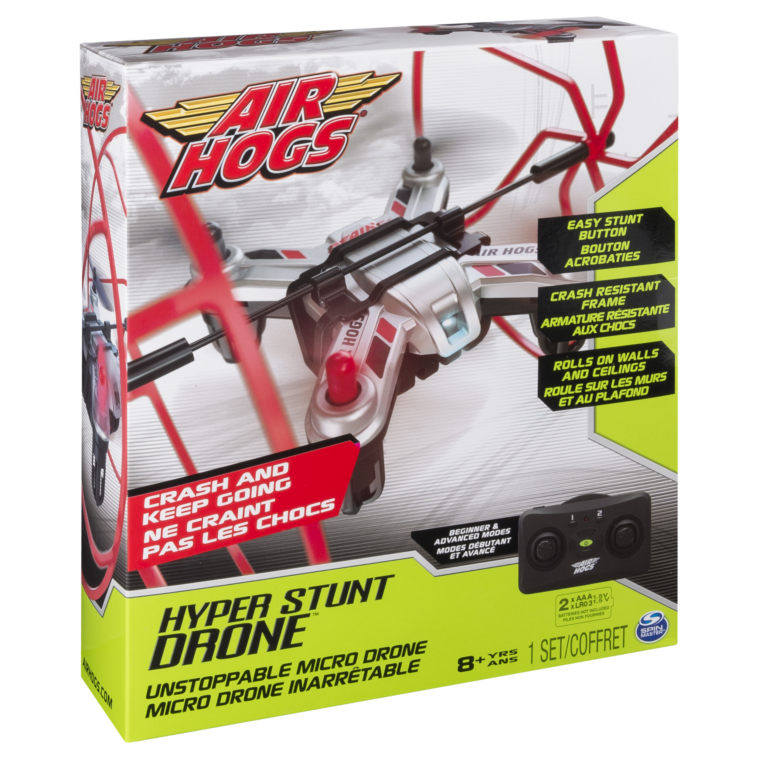 Air Hogs Hyper Stunt Drone Unstoppable Micro RC Drone Red by Spin Master Ltd