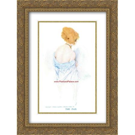 Raphael Kirchner 2x Matted 18x24 Gold Ornate Framed Art Print (Raphael Fan)