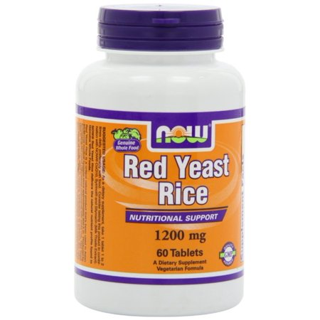 Now Foods Red Yeast Rice Extract 1200Mg 60 Tabs (Pack Of 2