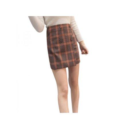 fdd0382a31 Topumt - Topumt Women Sexy Plaid Print High Waist A Line Mini Casual Skirt  Dress - Walmart.com