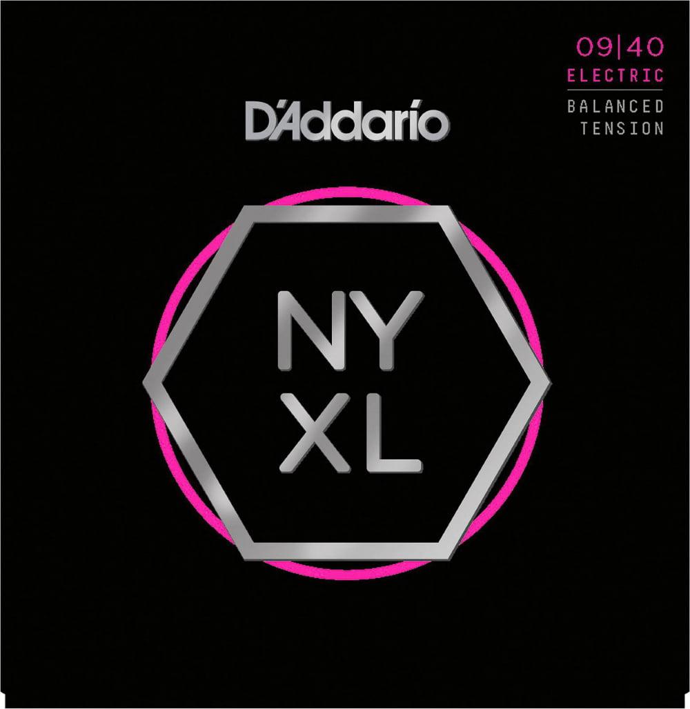 D'Addario NYXL0940BT Super Light Balanced Tension Electric Guitar Strings by D'Addario
