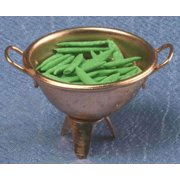 Dollhouse Colander Filled W/Green Beans