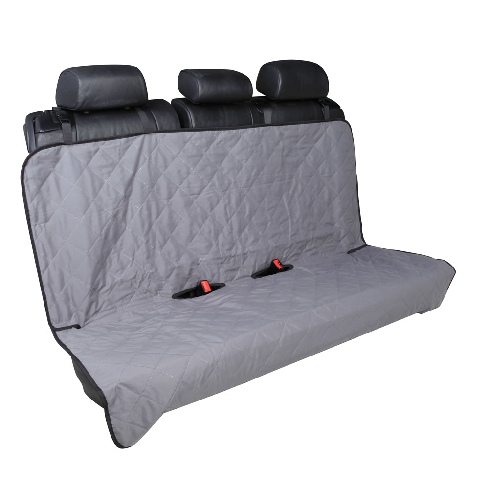 "Leader Accessories Grey Car Bench Back Seat Cover for Dog Pet Machine Washable with Anchor & Seat Belt Velcro Holes Protect Seat From Pet Odors,Dirt,Spills 55""x47"""