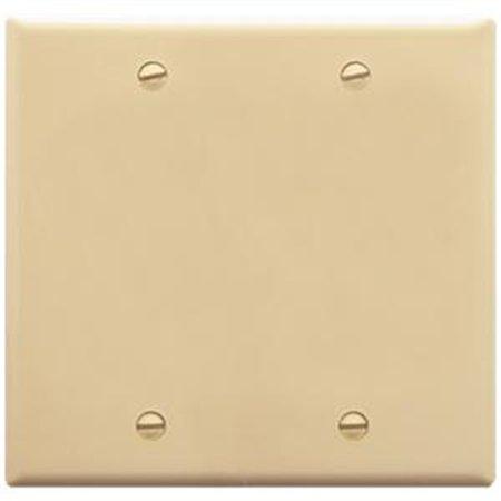 Faceplate Blank Insert - ICC Faceplate 2-Gang Blank Ivory IC630EBDIV