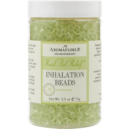 HEAD AID RELIEF by Aromafloria - INHALATION BEADS 2.5 OZ BLEND OF TEA TREE, ROSEMARY, AND PEPPERMINT - UNISEX