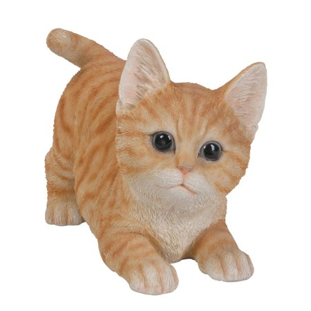 - Animal Collection Life Size Orange Tabby Kitten Figurine Statue 7 7/8