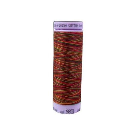 Poppies Thread - Mettler Silk Fin Cotton #50 109yd Multi Poppy Grdn