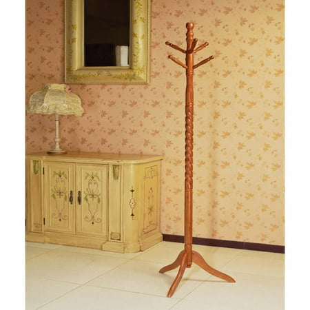 Home Craft Wooden Coat/Hat Rack Stand, Multiple Colors