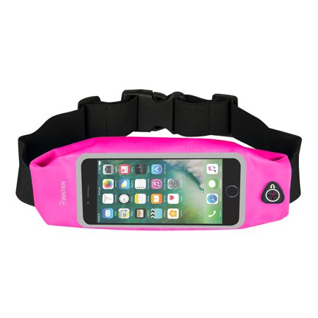 Insten Waterproof Sports Running Jogging Gym Belt Waist Pouch Bag with Touch Screen Window for iPhone 7 Smartphone Universal (Size: 6.02