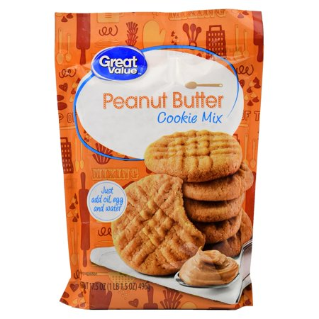 Peanut Cookie Mix ((4 Pack) Great Value Cookie Mix, Peanut Butter, 17.5)