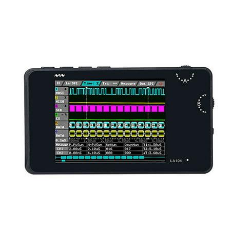 Portable Digital Logic Analyzer LA104 USB Mini 4 Channels 100MHz Max Sampling Rate Built in 8MB Flash Storage 2.8 Inch Oscilloscope