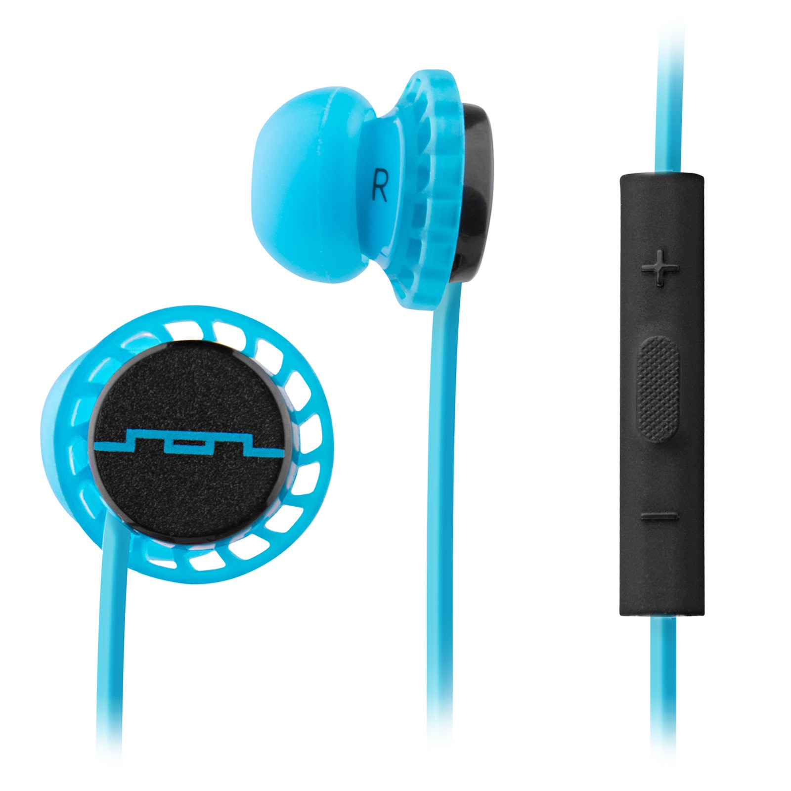 Sol Republic 1131-36 Relays Earbuds with 3-Button Mic + Music Control  - Horizon Blue