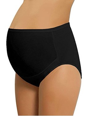 dfb3cd21ae5e Product Image NBB Women's Adjustable Maternity high cut 100% Cotton  underwear, Brief Black Large