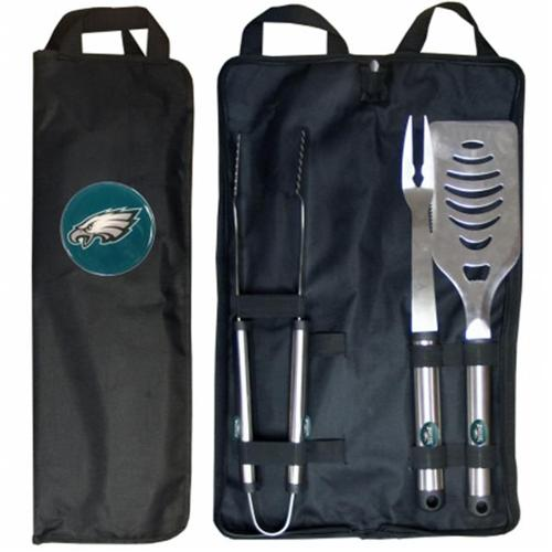 SISKIYOU 171653 NFL - 3-Piece BBQ Set with Canvas Case - Philadelphia Eagles
