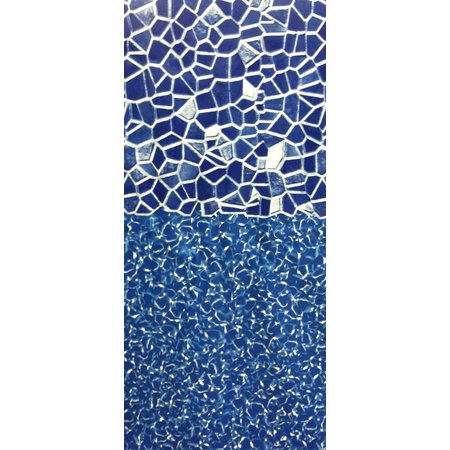 21-Foot Round Cracked Glass Overlap Above Ground Swimming Pool Liner - 48-or-52-Inch Wall Height - 25 Gauge