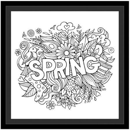 Spring by Eazl Black Framed Premium Gallery Wrap - Walmart.com