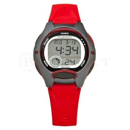 Women's Casual Digital Watch, Red Resin Strap - -